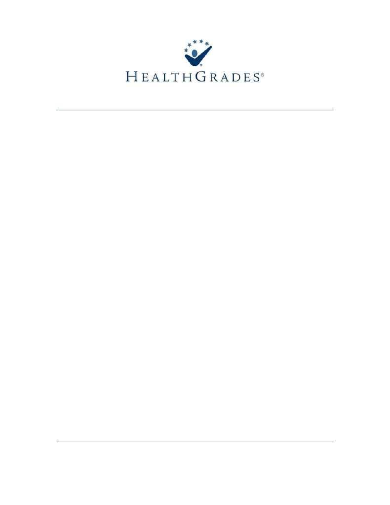 Health Grades - Hospital Quality Guide Methodology 20072008