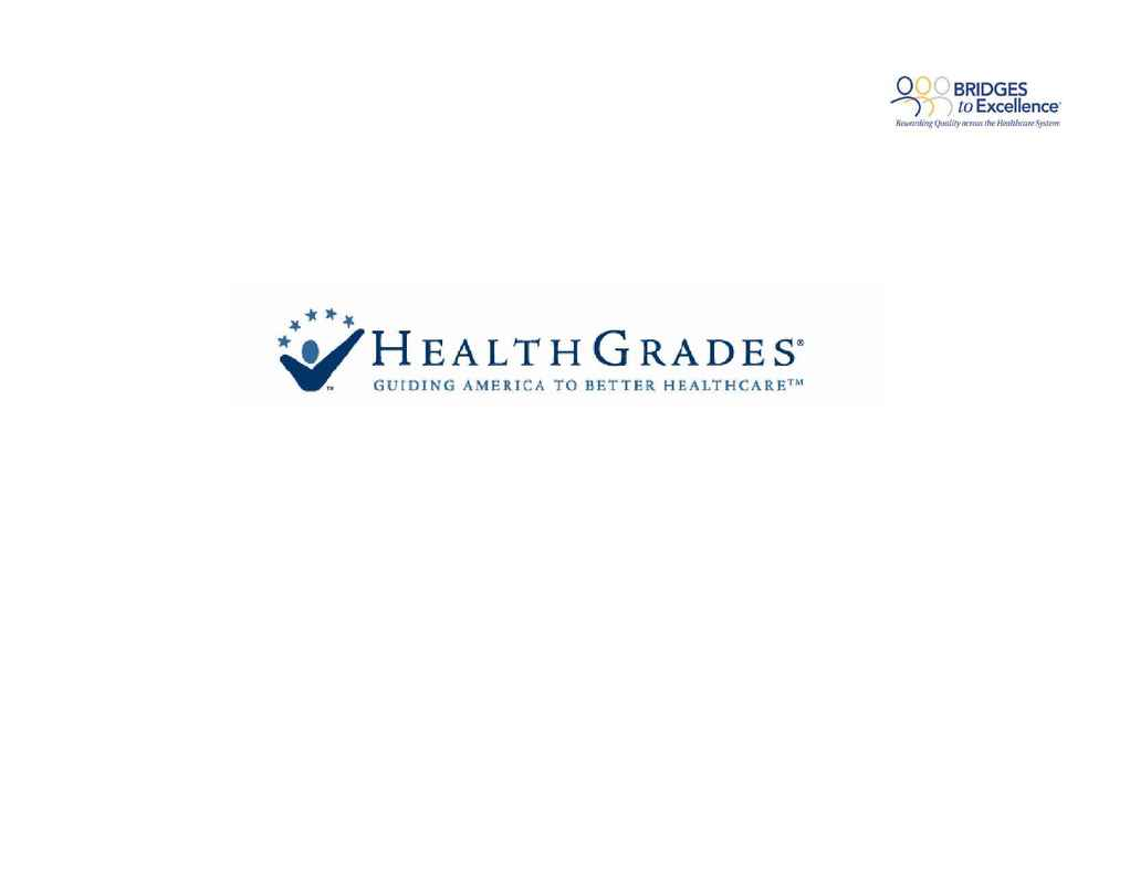 Health Grades - POSHow To Guidefor BTEV 2