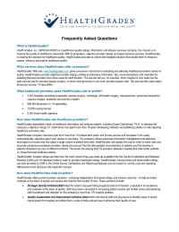 Health Grades - FAQ 1005