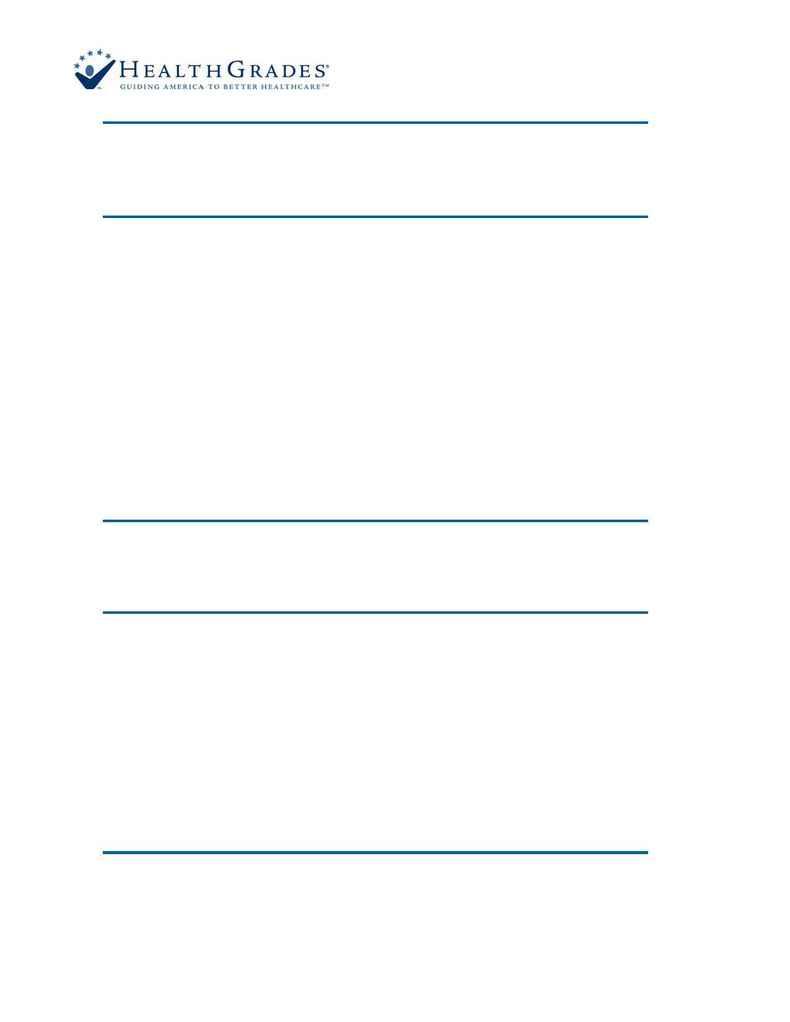 Health Grades - Fact Sheet 0206