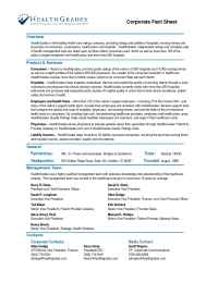 Health Grades - HGFact Sheet Oct 2006