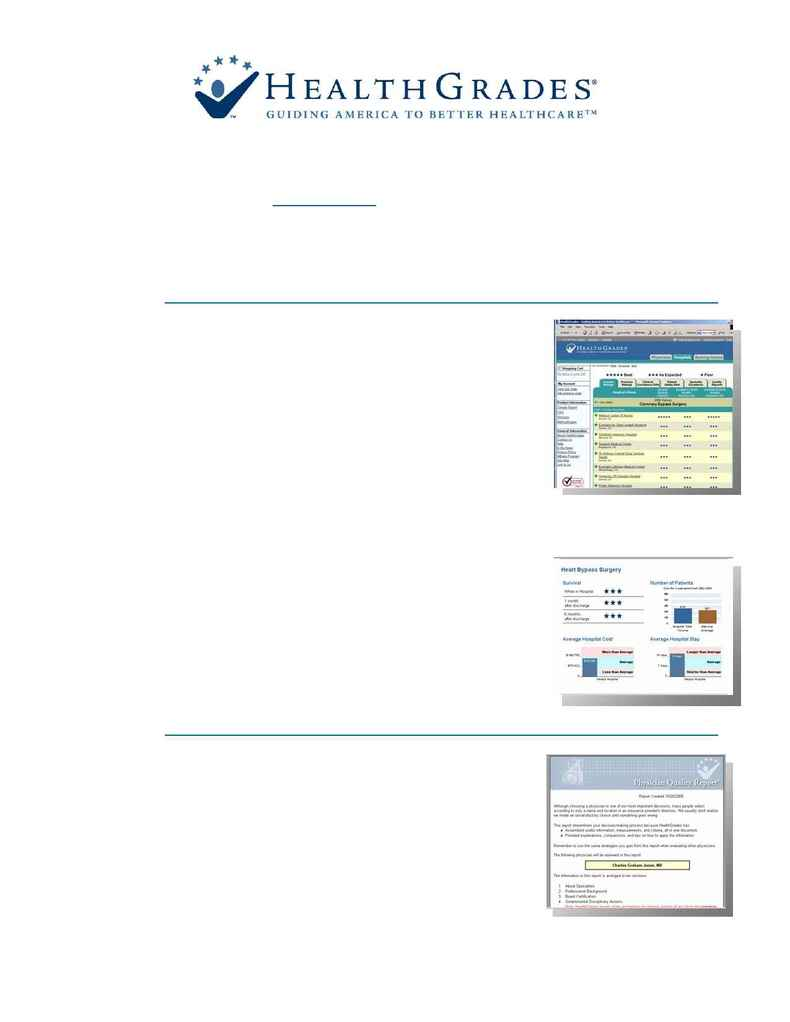 Health Grades - Health Grades Consumer Site Features