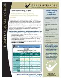 Health Grades - Hospitals Quality Guide