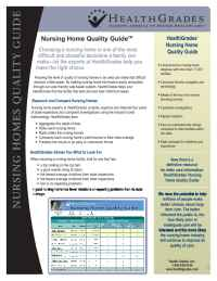 Health Grades - Nursing Homes