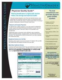 Health Grades - Physician Quality Guide