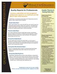 Health Grades - Professional Reports