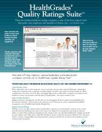 Health Grades - Quality Ratings Suite May 06