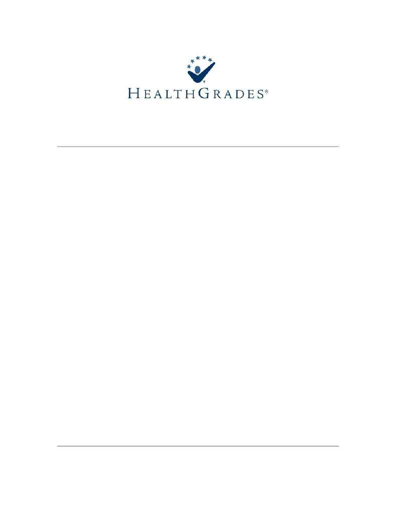 Health Grades - Specialty Excellence Methodology