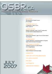 Open Source Business Resource - OSBR July 07