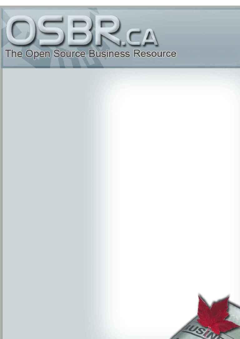 Open Source Business Resource - OSBR July 07
