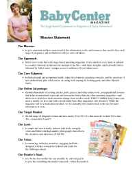 BabyCenter - Baby Center Mag Mission