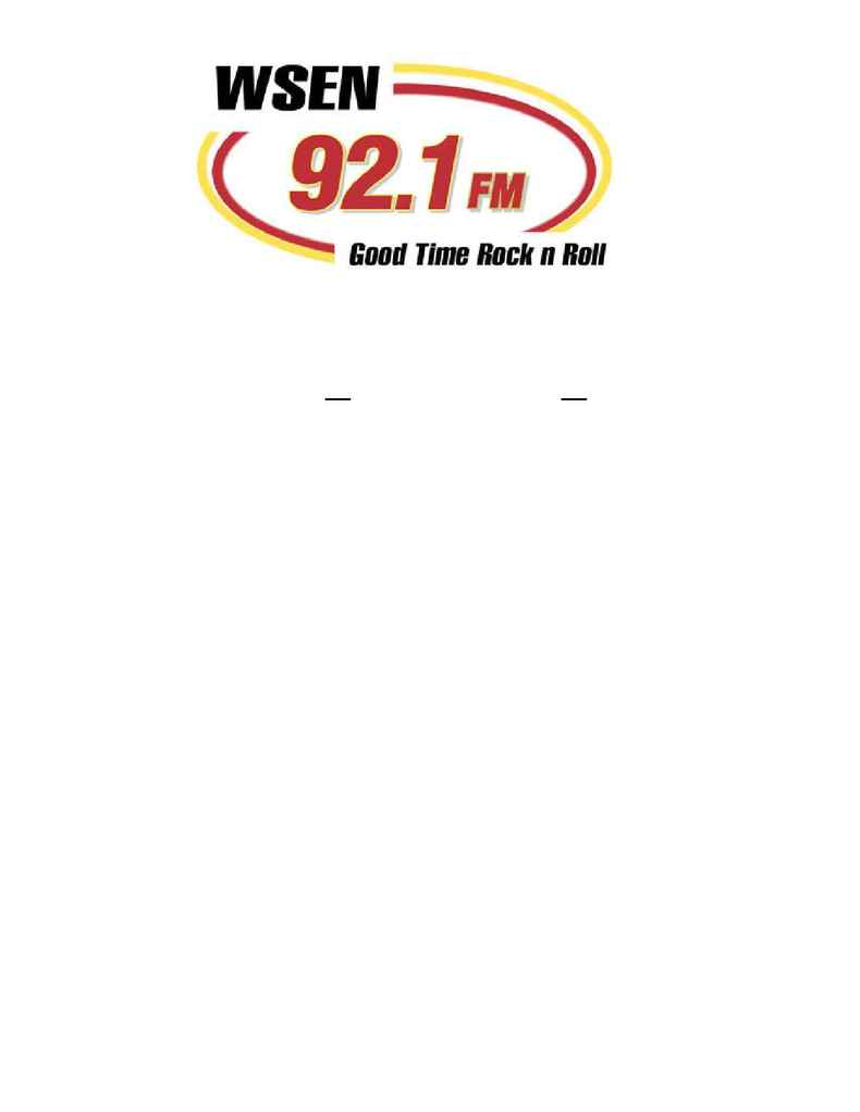 WSEN FM 92.1 - WSEN WFBL Rules