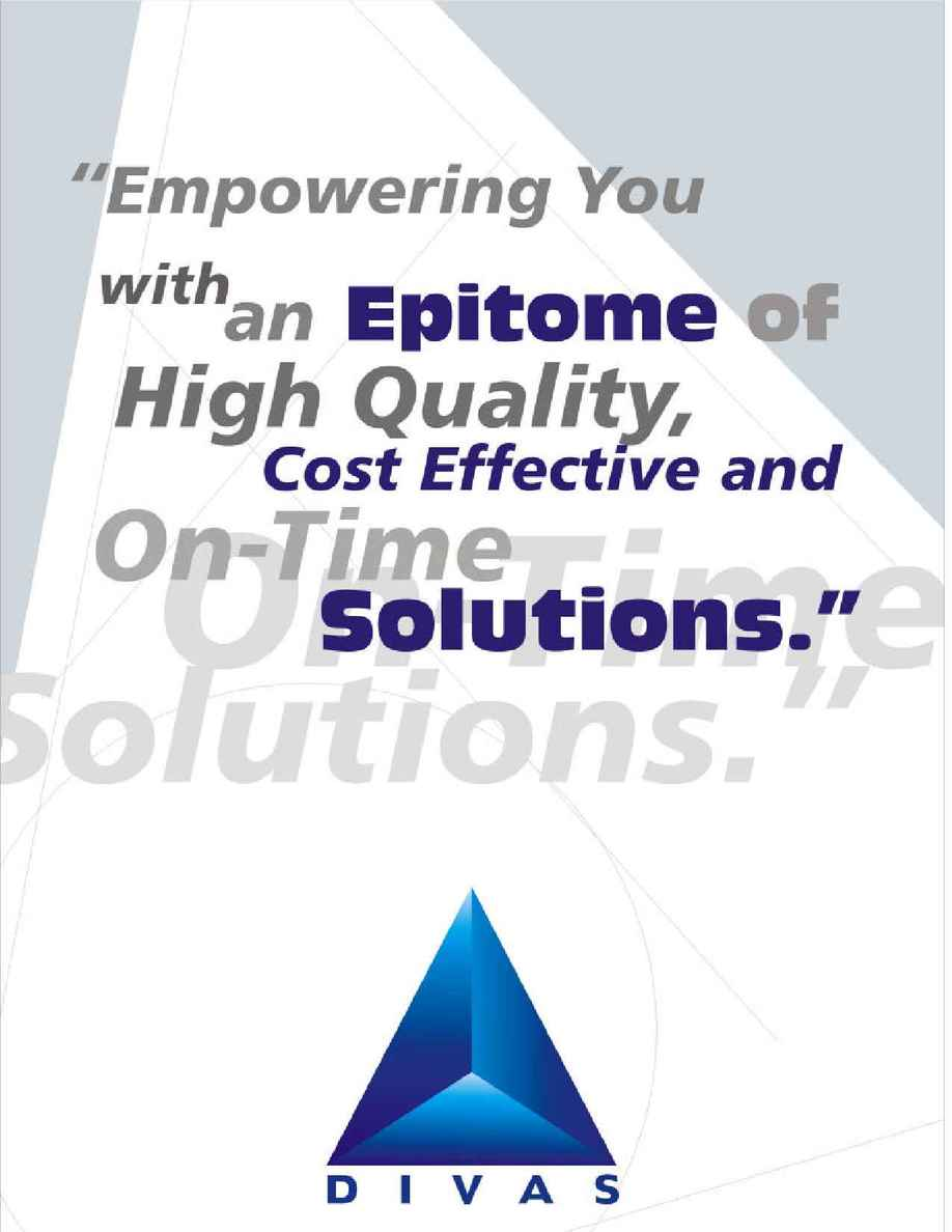 Divas Offshore Software Technologies (P) Ltd. - Divas e Brochure