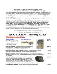 WKJC Tawas City - Auction Feb 07