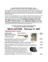 WKJC Tawas City - Auction Feb 07