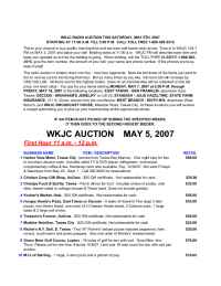 WKJC Tawas City - Auction May 07