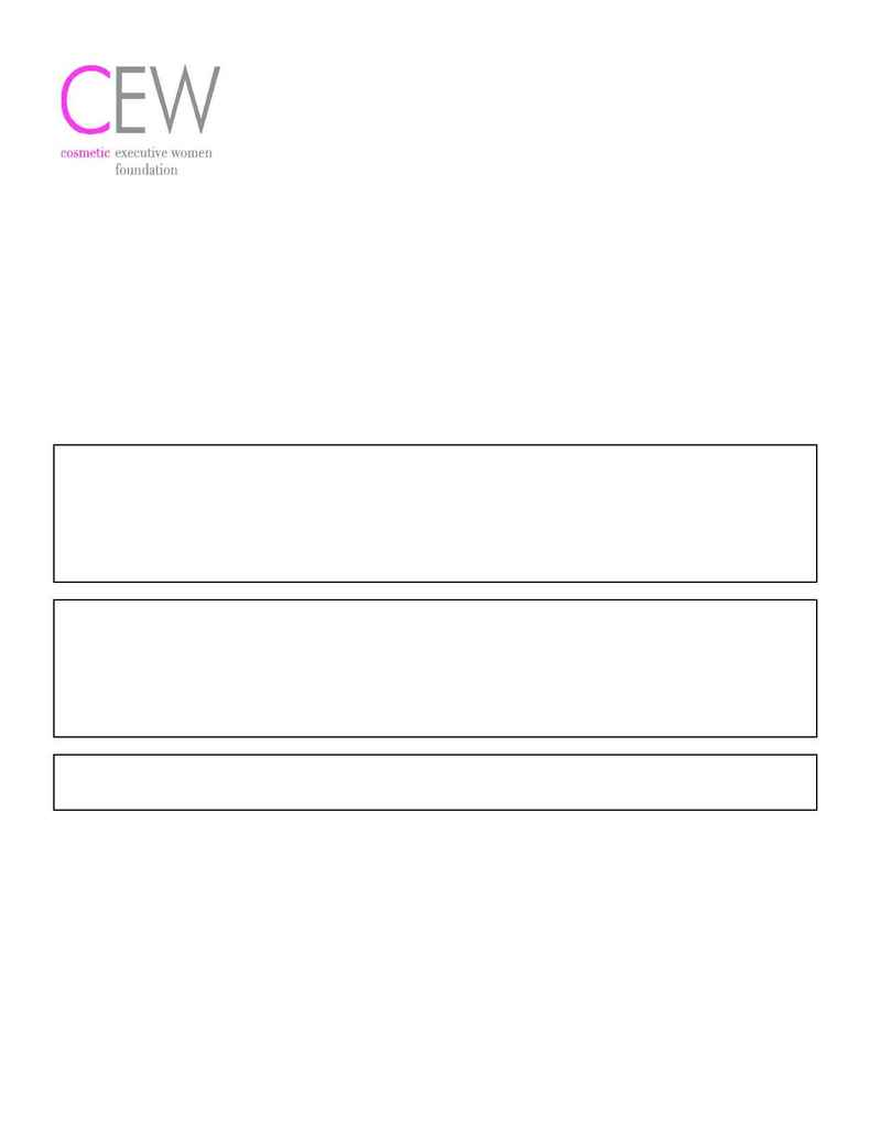Cosmetic Executive Women - Commitment Form 2004