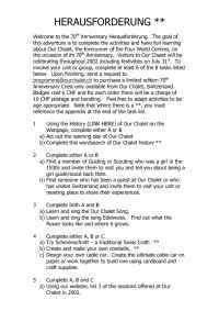 Our Chalet Adelboden - challenge