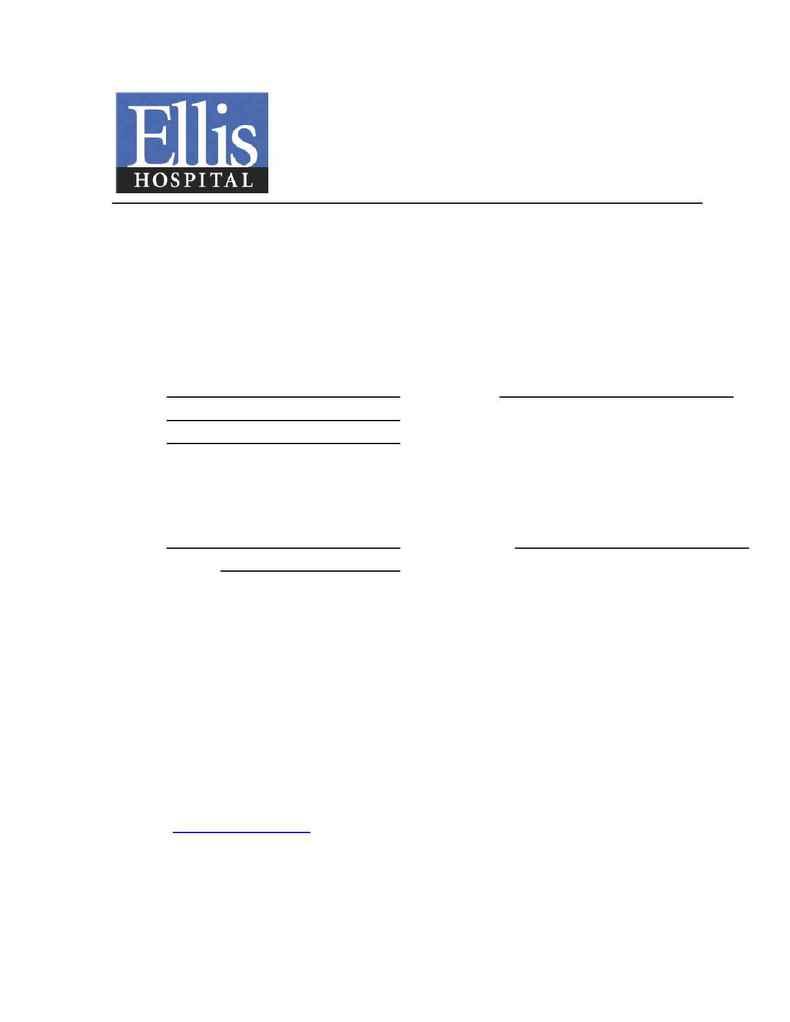 Ellis Hospital - 2005regform