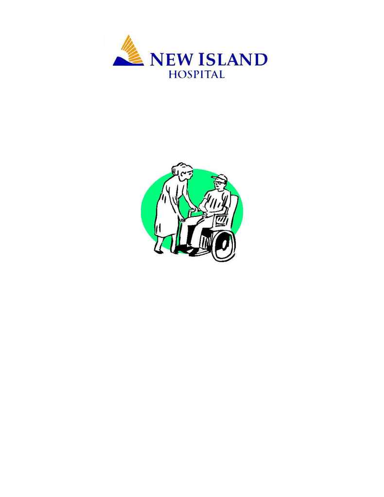 New Island Hospital - volunteer brochure