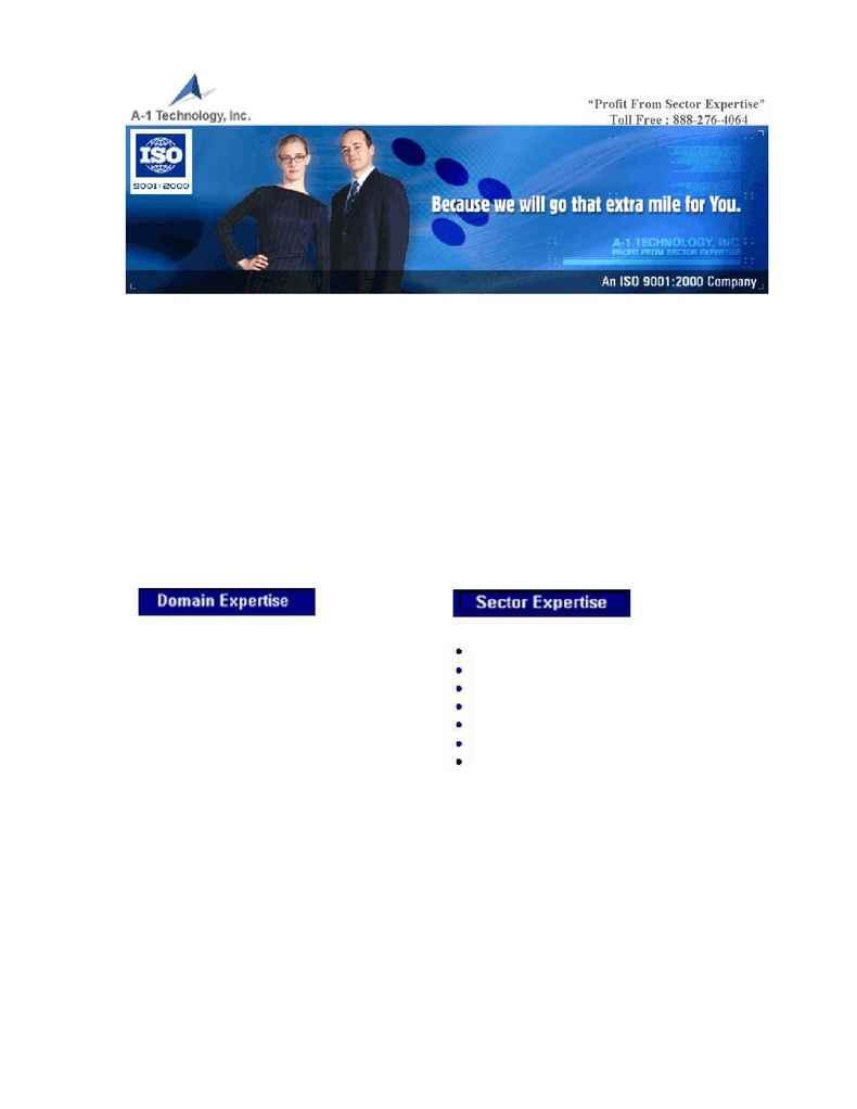 A-1 Technology, Inc. - brochure