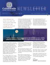 Colonnade Development - newsletter july 04