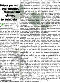 Wellsville Daily Reporter - ginseng