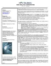 Dais Analytic - Fact Sheet