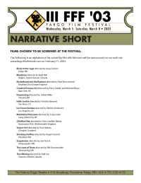 Fargo Film Festival - filmschosen short