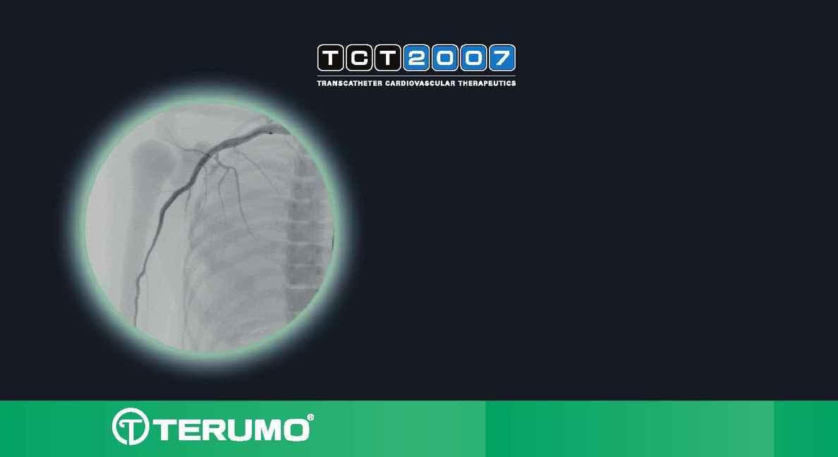 Angioplasty / PTCA Home Page - terumo tct 2007