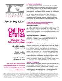 Nashville Independent Film Festival - 04 NFFcall