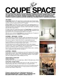 Coupe Magazine - Coupe Venue Info