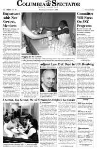 Columbia Spectator - frontpage
