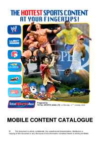 Total Sports Asia - TSAMobile Content