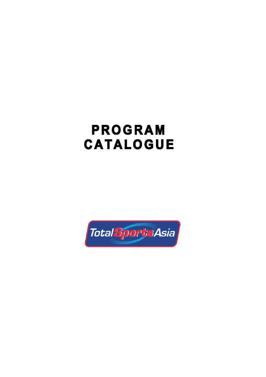 Total Sports Asia - TV MAIN CATALOGUE (05092005)