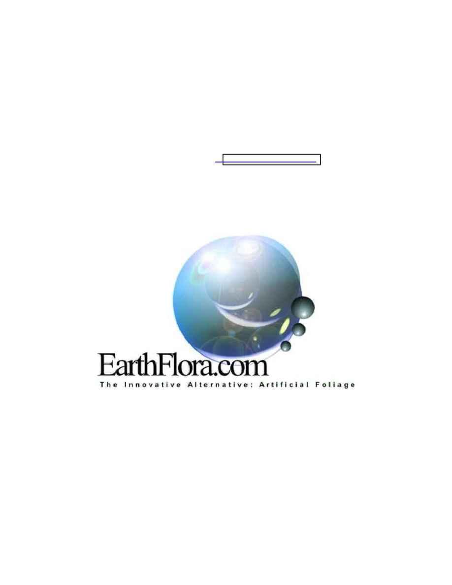 EarthFlora - EF 2003 Pricelist