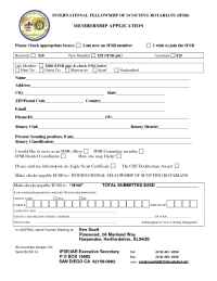 International Fellowship of Scouting Rotarians - IFSR membership application 2005 11 01