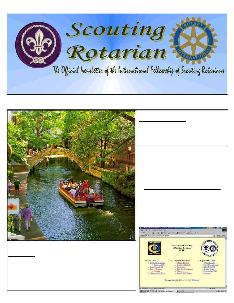 International Fellowship of Scouting Rotarians - IFSR news 2001 03