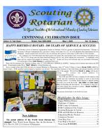 International Fellowship of Scouting Rotarians - SR issue 7 2005