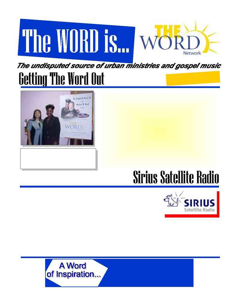 The Word Network Urban Religious Channel - 4thqtr 2002