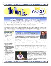 The Word Network Urban Religious Channel - Jan 2001