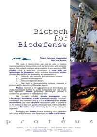 Proteus - Proteus Biodefense 050531