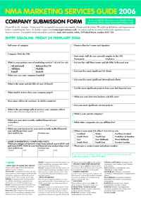NMA: New Media Age - MSG entry form
