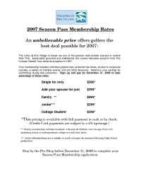 Syracuse.com - 2007 Early Bird Season Pass Membership Rates
