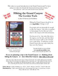 GrandCanyonHiker.com - Hiking The Grand Canyon p