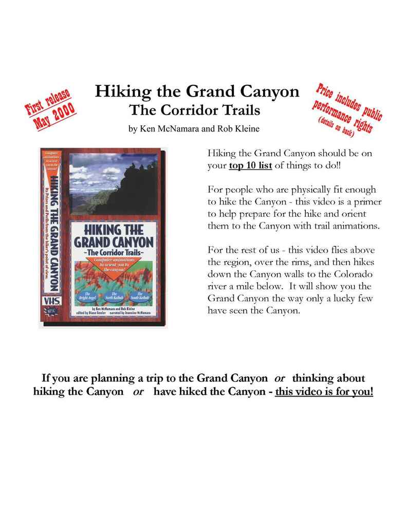 GrandCanyonHiker.com - Hiking The Grand Canyon p