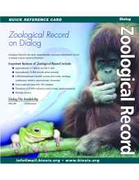 Biosis - Zoological Record Dialog