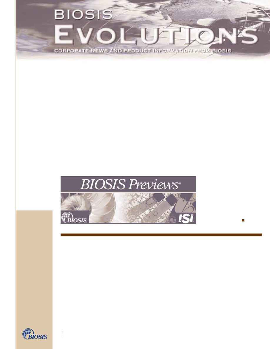 Biosis - evol 7 1