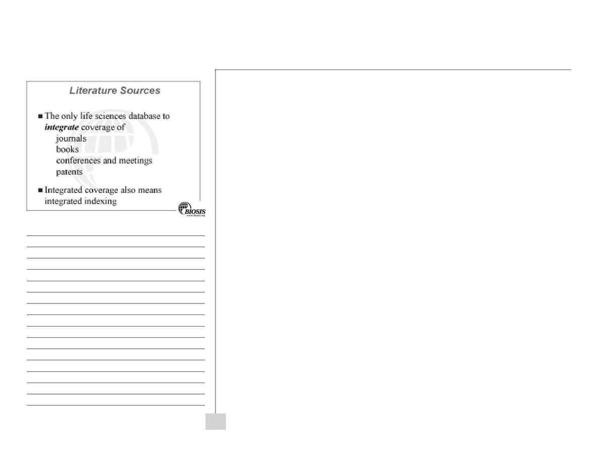 Biosis - BIOSIS Previews workbook
