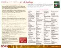 Biosis - Ichthyology Flier